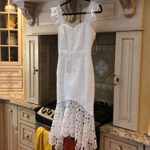 White Lace Two Sisters the Label Dress